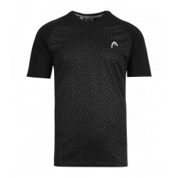 CAMISETA HEAD SMU ALPHA BLACK